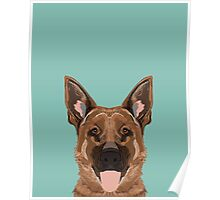 Skylar - German Shepherd gifts for dog people dog lover gifts german shepherd owners perfect gifts Poster