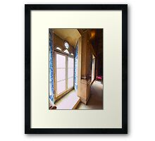 windows in perspective Framed Print