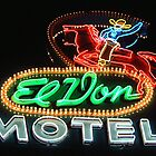 El Don Motel Route 66 by Sally P  Moore