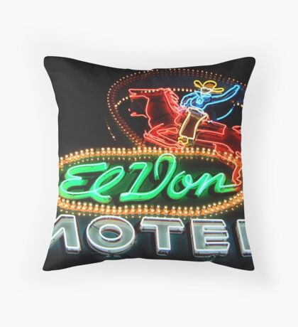 El Don Motel Route 66 Throw Pillow