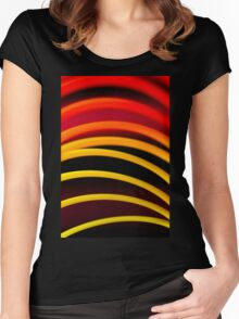 Colorful color circular art swirl abstract photograph Women's Fitted Scoop T-Shirt