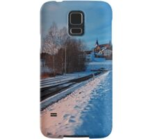 The end of the railroad | landscape photography Samsung Galaxy Case/Skin