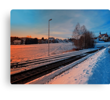 The end of the railroad | landscape photography Canvas Print