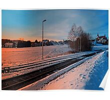 The end of the railroad | landscape photography Poster