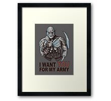 I WANT YOU FOR MY ARMY Framed Print