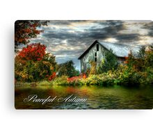 Peaceful Autumn Canvas Print