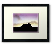 Haytor Morning Framed Print