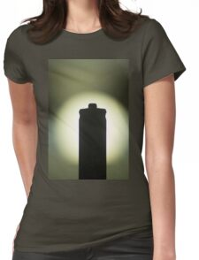 AAA Battery silhouette art photo Womens Fitted T-Shirt
