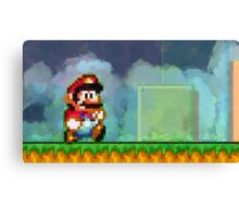 Super Mario retro painted pixel art Canvas Print