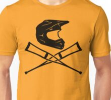 Enduro helmet with crutches Unisex T-Shirt
