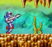 Turrican retro painted pixel art by smurfted