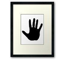 Stop Hand Framed Print