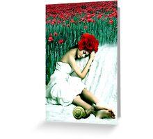 Poppies Memories Greeting Card