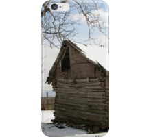 Rustic Winter Scene in Barda Romania iPhone Case/Skin