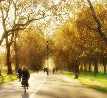 Autumn in Hyde Park by Lucy Hollis