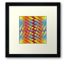 Folding colors Framed Print