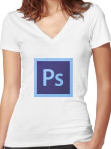 Adobe Photoshop Women's Fitted V-Neck T-Shirt