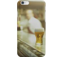 Glass of beer in Spanish tapas bar square Hasselblad medium format  c41 color film analogue photograph iPhone Case/Skin