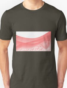 Background with hearts and waves T-Shirt