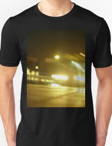 Bus in street at night square Hasselblad medium format  c41 color film analogue photograph Unisex T-Shirt