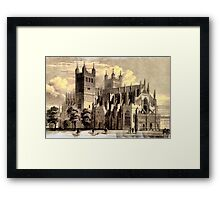 Exeter Cathedral, England founded 1050 - all products Framed Print