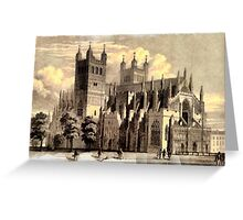 Exeter Cathedral, England founded 1050 Greeting Card
