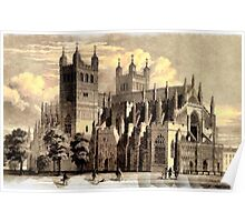 Exeter Cathedral, England founded 1050 - all products Poster