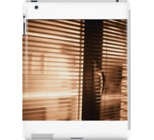 Appartment window blind sepia black and white film silver gelatin analog photograph iPad Case/Skin