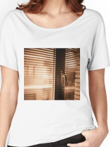 Appartment window blind sepia black and white film silver gelatin analog photograph Women's Relaxed Fit T-Shirt
