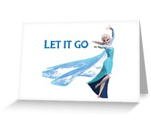 Frozen Let It Go Greeting Card