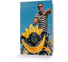 GONDOLIER  (CARD) Greeting Card