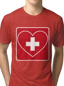 Get Well Soon, Doctor, Heart, First Aid, Swiss Army, Victorinox, Sexy Nurse Tri-blend T-Shirt