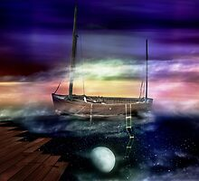 Sailing through the Night Sky by Andy  King Art