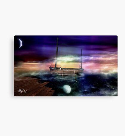 Sailing through the Night Sky Canvas Print