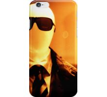 Portrait of male shop dummy store fashion mannequin sepia black and white film silver gelatin analogue iPhone Case/Skin