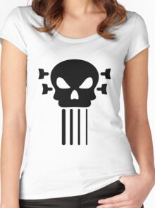 Bass guitar and skull Women's Fitted Scoop T-Shirt