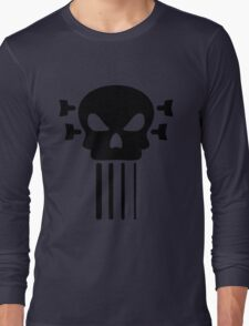 Bass guitar and skull Long Sleeve T-Shirt