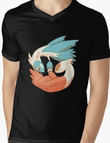 Latios and Latias Mens V-Neck T-Shirt