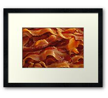 Mmm, Bacon Strips Framed Print