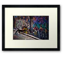 Alley life - Graffiti  Melbourne Framed Print