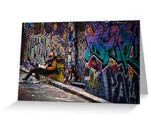 Alley life - Graffiti  Melbourne Greeting Card