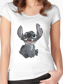 stitch-shaded Women's Fitted Scoop T-Shirt
