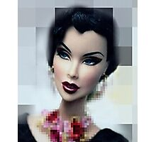 Doll with  red mouth Photographic Print