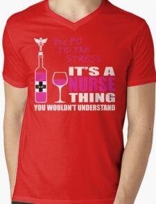 8oz PO TID PRN Stress - Nurse Humor T Shirt Mens V-Neck T-Shirt