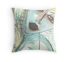 'Bad Boys in Neon' Throw Pillow