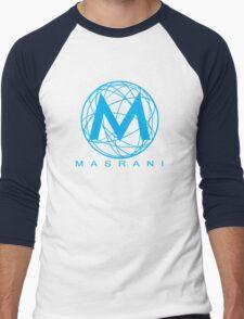 Masrani Blue Men's Baseball ¾ T-Shirt