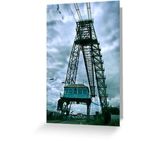 newport transporter bridge eastside Greeting Card