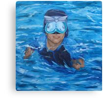 chris in pool no wall Canvas Print