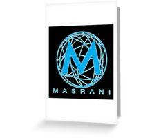 Masrani Blue 2 Greeting Card
