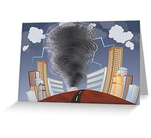 Powerful Tornado 3 Greeting Card